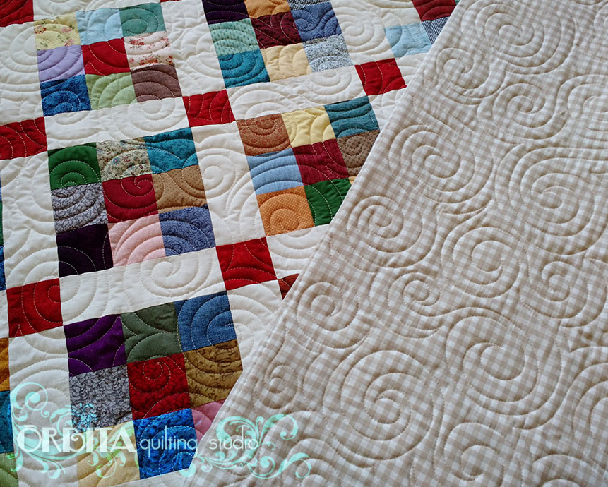 quilting all over oqs design caracol