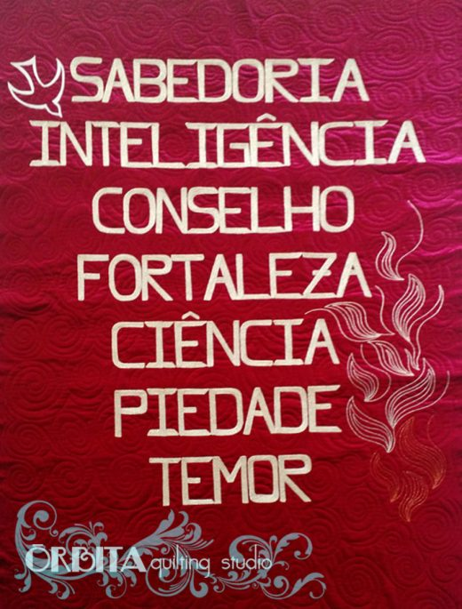 couching quilting com lã para quilter profissional